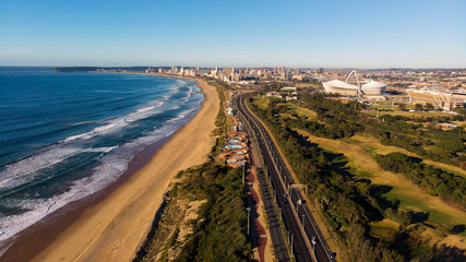Looking back at Durban's skyline on a clear winter's morning