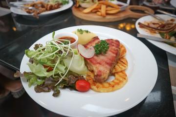 pork steak or pork chop