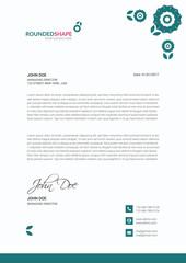 Letter head Design, Print Letterhead Template, Letterhead Vector, Stationary Design, Application Letter