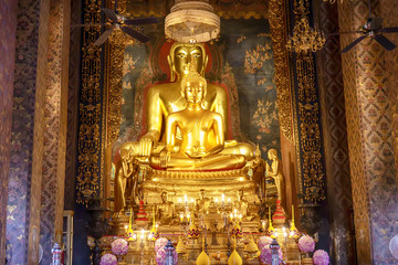 One landmark of Wat Bowon Niwet Temple Ratchaworawihan in Bangkok, Thailand. A place everyone in every religion can be viewed.