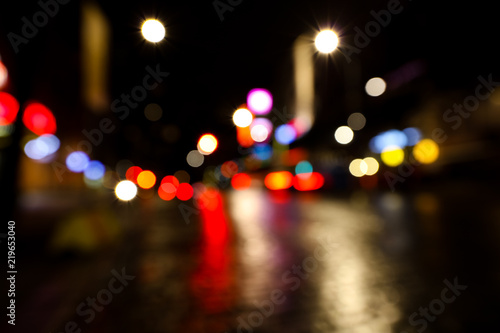 Holiday Lights In Abstract Slow Shutter >> Blurred City Traffic Lights Photographed At Night In Finland Slow