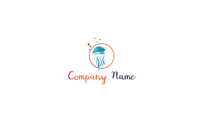 Jelly Fish vector logo image