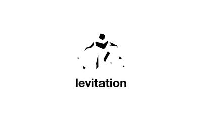 Levitation vector logo image