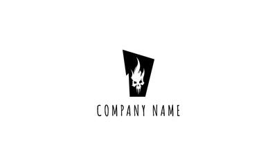 Scull vector logo image