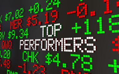 Top Performers Best Stock Picks Market Ticker Prices 3d Animation
