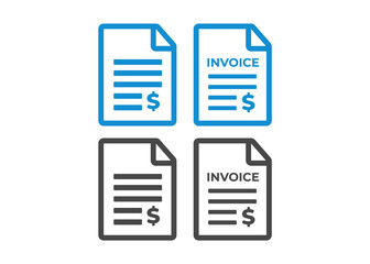 Invoice icon. Payment and billing invoices vector icon