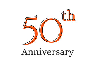50 years anniversary celebration logo. Happy birthday design of 50th years