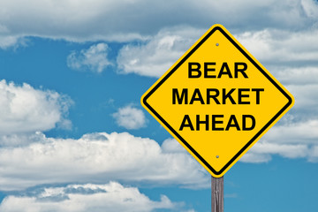 Bear Market Ahead Caution Sign