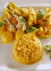 Milanese Risotto with Seafood