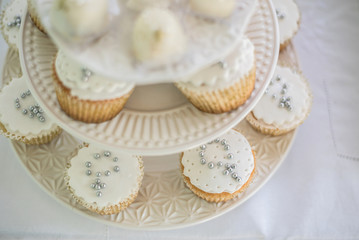 Cupcakes on the table - Baptism
