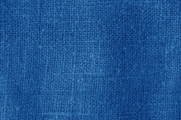 Sack cloth texture in navy blue color.