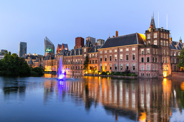 the hague netherlands evening reflections