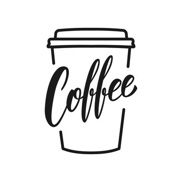 Coffee. Coffee to go oconcept illustration with lettering