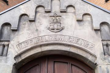 "Front of the ""Hafenpolizeiwache 2"""