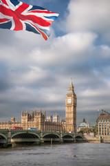 Wall Mural - Big Ben with bridge in London, England, UK