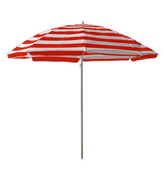 Beach umbrella - Red-white striped