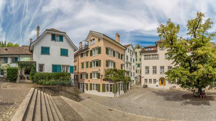 View of central Zurich in summer, Switzerland