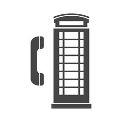 British Telephone Booth Isolated
