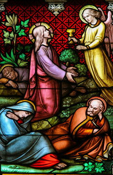 Stained Glass - Jesus Christ in the Garden of Gethsemane