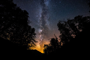 Summer night sky, Appalachian Mountains, Kentucky