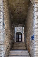 Fototapeta Old wintage door in the city of Sibenik in the summer morning, Croatia