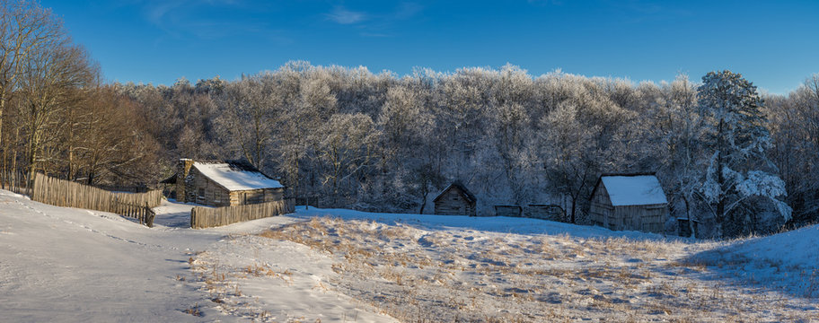 Rustic farm, winter scenic, Cumberland Gap National Park