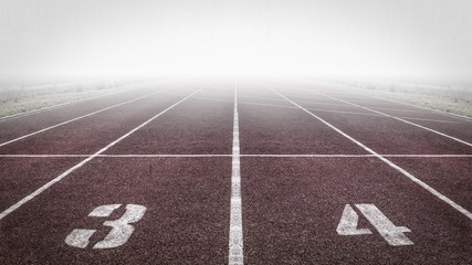 sport race running lanes athleticism runner run fog mist competition olympic games