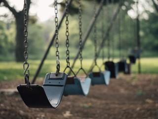 playground swings outdoor activities kids children park game nobody
