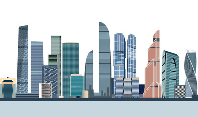 vector illustration of Moscow city skyline