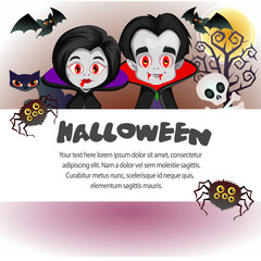 halloween template vampire dracula couple