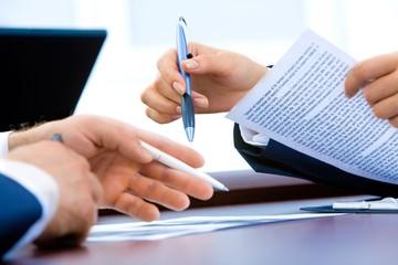 sign contract pen hands business men woman office recruitment finance tax money meeting negociation property management loan investment