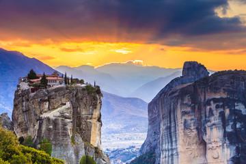 Monastery of the Holy Trinity i in Meteora, Greece Fototapete