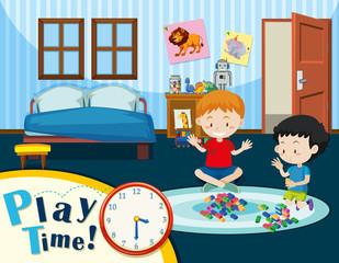 Children play in bedroom