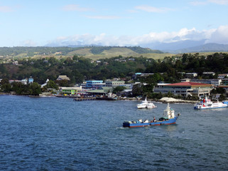 Keuken foto achterwand Oceanië Views of Honiara from a cruise ship, Solomon Islands.