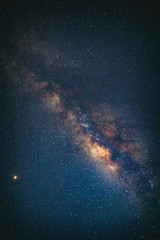 Milky Way stars as seen from a southern hemisphere. Mars is in lower left part of image.