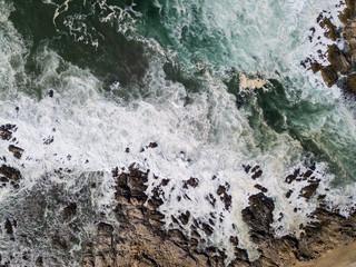 Aerial View of Pacific Ocean and Coast of Monterey Peninsula, California