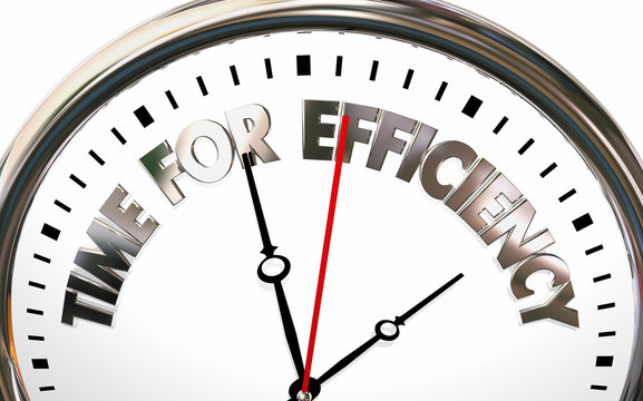 Time for Efficiency Work Habits Efficiency Clock 3d Illustration