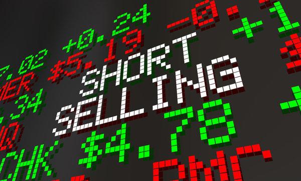 Short Selling Stock Market 2 Scheme Scam Ticker Prices 3d Animation