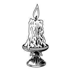 Candle with flame