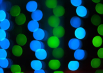 colorful and bright bokeh in the black background.
