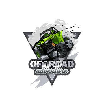 Off-Road ATV Buggy Logo, Extreme adventure.