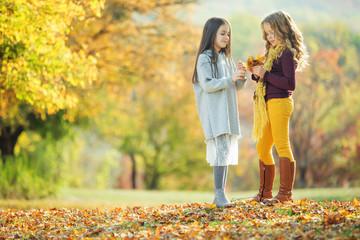Children's fashion in autumn