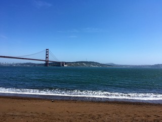 Golden Gate Bridge, San Francisco. View from Kirby Cove