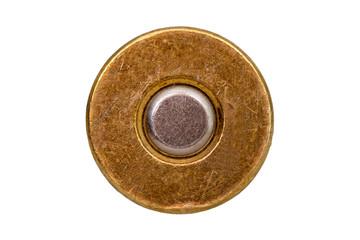 bottom bullet cartridge on white background