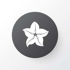 Carambola icon symbol. Premium quality isolated starfruit element in trendy style.