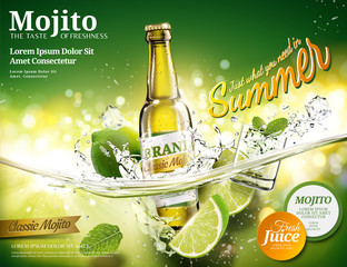 Refreshing mojito ads