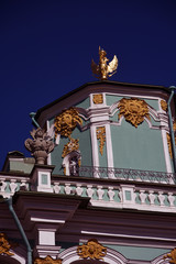 Old architecture of Saint Petersburg, Russia. Color photo.