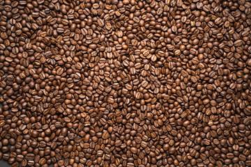 coffee bean background Arabica coffee roasted