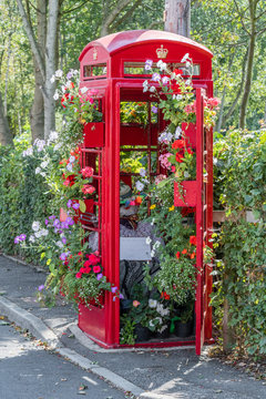 Old Red Phone Box