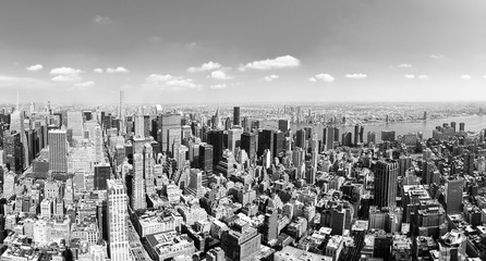 View of Manhattan from the skyscraper's observation deck. New York.